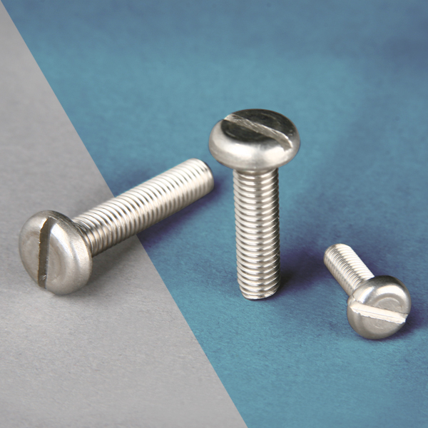Stove-Bolt-Cabeza-Pan-con-Ranura-Inoxidable